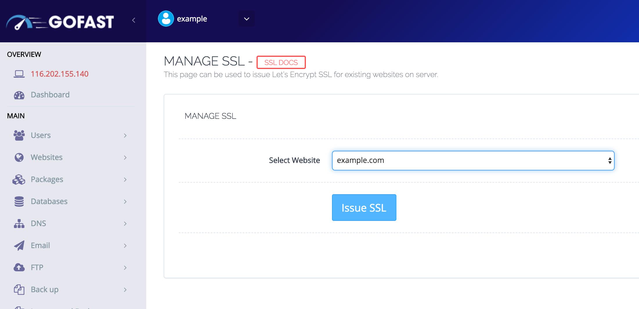 Issue SSL